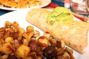 and the breakfast burrito