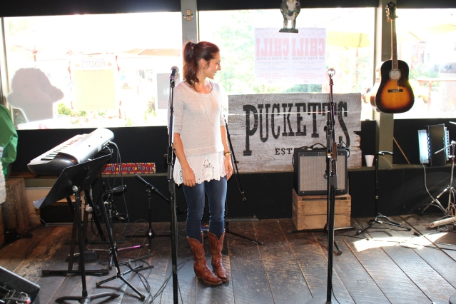 The open-mic stage at Puckett's